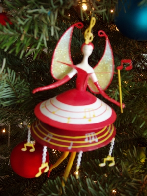 Product picture Image - Female Musical Christmas Holiday Ornament PLR
